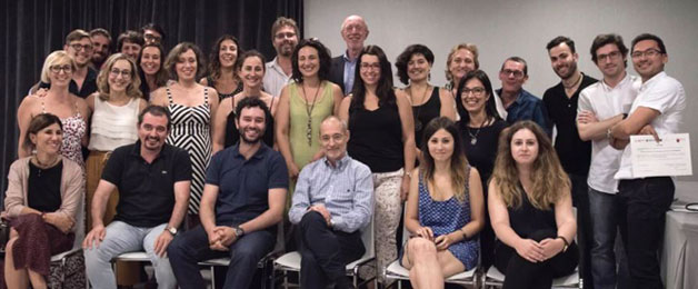 Dr. Yeomans with the graduating class from the TFP Training in Murcia, Spain, June 2017